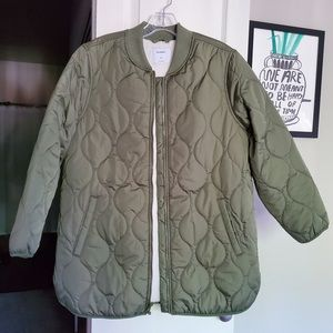 Old Navy Sherpa Lined Quilted Coat Petite L